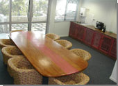 Board Room with direct access to outside entertainment area